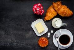 Alimento di prima colazione e spazio della copia Fotografia Stock