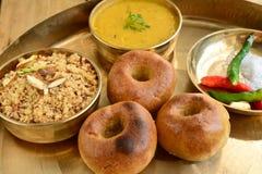 Alimento di Rajasthani dell'indiano Fotografia Stock