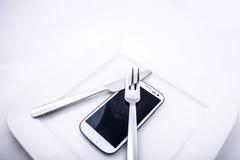 Alimento di Smartphone Immagine Stock Libera da Diritti