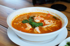 Alimento di Tom Yum Goong Kung Thai Immagine Stock