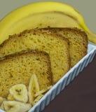 Alimento di una banana Immagine Stock
