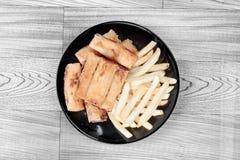 Alimento di verdure cinese di festival come il rotolo di molla e franco fritti nel grasso bollente Fotografia Stock Libera da Diritti