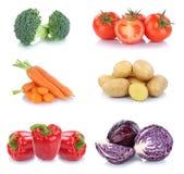 Alimento di verdure delle patate del peperone dolce dei pomodori delle carote delle verdure Immagini Stock Libere da Diritti