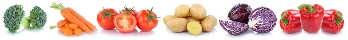 Alimento di verdure delle patate del peperone dolce dei pomodori delle carote delle verdure Fotografia Stock Libera da Diritti