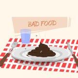 Alimento difettoso Fotografia Stock Libera da Diritti