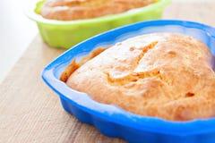 Alimento do almoço da saúde do café da manhã do cozimento do queque de milho Fotos de Stock Royalty Free