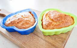 Alimento do almoço da saúde do café da manhã do queque de milho Fotos de Stock