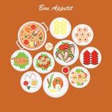 Alimento do appetit do Bon Ilustração do Vetor