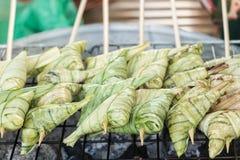 Alimento do arroz pegajoso para a energia Fotografia de Stock