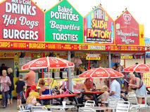 Alimento do beira-mar e bebida, Skegness Foto de Stock