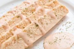 Alimento do bolo de peixes Imagens de Stock Royalty Free
