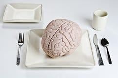 Alimento do cérebro imagens de stock