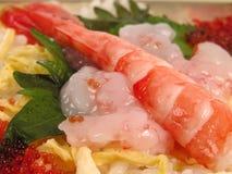 Alimento do camarão imagem de stock