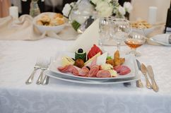 Alimento do casamento Fotos de Stock Royalty Free