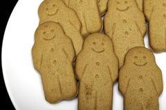 Alimento do conforto do biscoito dos homens de pão-de-espécie Imagem de Stock