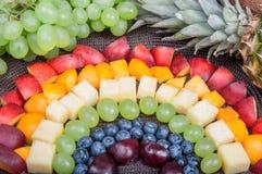 Alimento do divertimento Arco-íris do fruto foto de stock royalty free