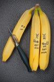 Alimento do divertimento Grupo da banana Imagens de Stock Royalty Free