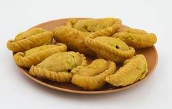 Alimento do doce de Gunjiya fotos de stock royalty free