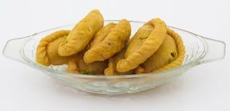 Alimento do doce de Gunjiya imagem de stock royalty free