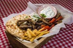 Alimento do grego de Traditonal imagem de stock royalty free