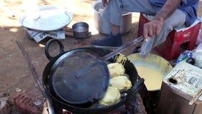 Alimento do indiano da rua filme