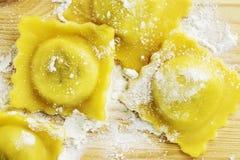 Alimento do italiano do ravioli fotografia de stock royalty free