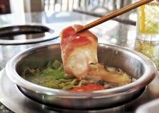 Alimento do japonês do shabu de Shabu Imagens de Stock