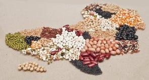Alimento do mapa de África imagens de stock royalty free
