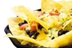 Alimento do mexicano da galinha e da salada do taco dos feijões Foto de Stock Royalty Free