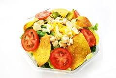 Alimento do mexicano da salada do taco de galinha Fotografia de Stock