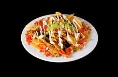 Alimento do mexicano dos Nachos Fotos de Stock Royalty Free