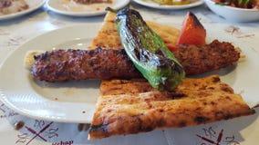Alimento do no espeto de Adana Fotos de Stock Royalty Free