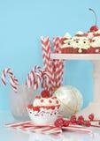 Alimento do partido da sobremesa do feriado do Natal Foto de Stock Royalty Free