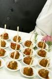 Alimento do partido de cocktail - carne foto de stock
