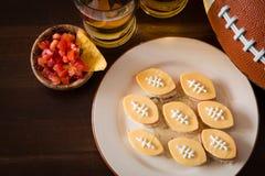 Alimento do partido do futebol, dia do Super Bowl Imagem de Stock