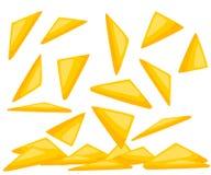 Alimento do prato de Chips With Traditional Mexican Cuisine dos Nachos da ilustração do vetor do menu do café ilustração stock