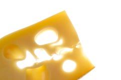 Alimento do queijo sobre o branco Fotos de Stock Royalty Free