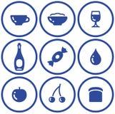 Alimento do setâ do ícone e bebida (vetor) ilustração stock