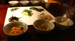 Alimento do templo budista em Coreia Foto de Stock