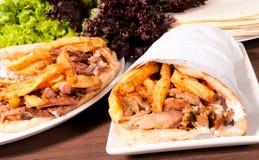 Alimento do turco de Doner Kebab Foto de Stock