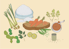 Alimento do vegetal das especiarias Fotos de Stock