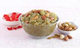 Alimento doce indiano Lauki Halwa Imagens de Stock