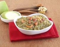 Alimento doce indiano Lauki Halwa Fotografia de Stock