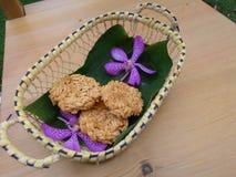 Alimento doce tailandês tradicional de Tailândia saboroso imagem de stock
