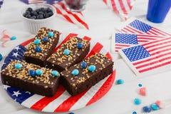 Alimento dolce decorato con il tema del 4 luglio Fotografia Stock Libera da Diritti