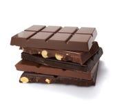 Alimento dolce dello zucchero del desseret della barra di cioccolato Immagini Stock