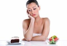 Alimento dolce o sano immagine stock