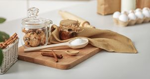 Alimento dolce sulla tavola domestica Fotografia Stock