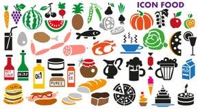 Alimento dos ícones Fotografia de Stock Royalty Free