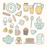 Alimento e bebida de café da manhã Fotos de Stock Royalty Free